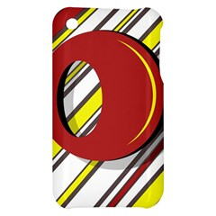 Red and yellow design Apple iPhone 3G/3GS Hardshell Case