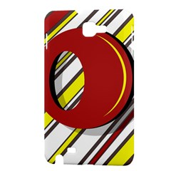 Red and yellow design Samsung Galaxy Note 1 Hardshell Case