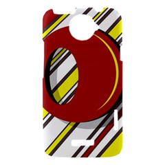 Red and yellow design HTC One X Hardshell Case