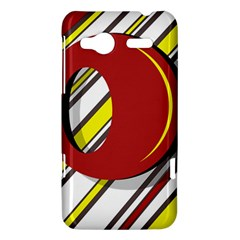 Red and yellow design HTC Radar Hardshell Case