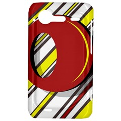 Red and yellow design HTC Incredible S Hardshell Case