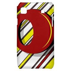 Red and yellow design Samsung Galaxy S i9000 Hardshell Case