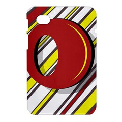 Red and yellow design Samsung Galaxy Tab 7  P1000 Hardshell Case