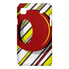 Red and yellow design Samsung Galaxy S i9008 Hardshell Case