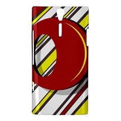 Red and yellow design Sony Xperia S