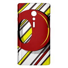 Red and yellow design Sony Xperia ion