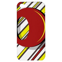 Red and yellow design Apple iPhone 5 Hardshell Case