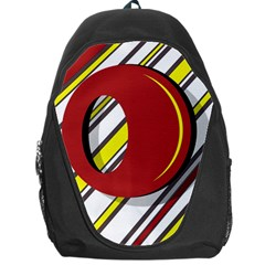 Red and yellow design Backpack Bag
