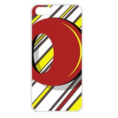 Red and yellow design Apple iPhone 5 Seamless Case (White)
