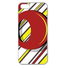 Red and yellow design Apple Seamless iPhone 5 Case (Clear)