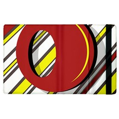 Red and yellow design Apple iPad 2 Flip Case
