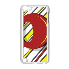 Red and yellow design Apple iPod Touch 5 Case (White)