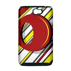 Red and yellow design Samsung Galaxy Note 2 Hardshell Case (PC+Silicone)