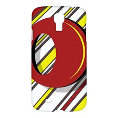 Red and yellow design Samsung Galaxy S4 I9500/I9505 Hardshell Case