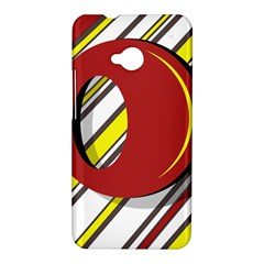 Red and yellow design HTC One M7 Hardshell Case