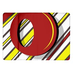 Red and yellow design Samsung Galaxy Tab 10.1  P7500 Flip Case