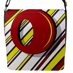 Red and yellow design Flap Messenger Bag (S)