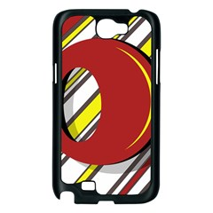 Red and yellow design Samsung Galaxy Note 2 Case (Black)