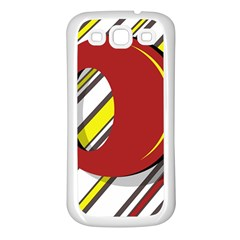 Red and yellow design Samsung Galaxy S3 Back Case (White)