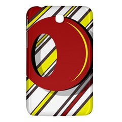 Red and yellow design Samsung Galaxy Tab 3 (7 ) P3200 Hardshell Case