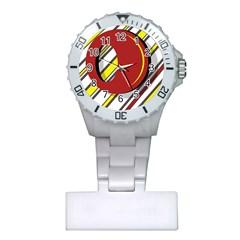 Red and yellow design Plastic Nurses Watch