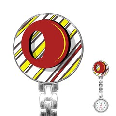 Red and yellow design Stainless Steel Nurses Watch