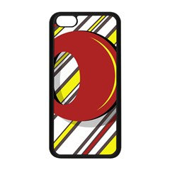Red and yellow design Apple iPhone 5C Seamless Case (Black)