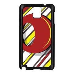 Red and yellow design Samsung Galaxy Note 3 N9005 Case (Black)