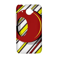 Red and yellow design HTC Desire 601 Hardshell Case