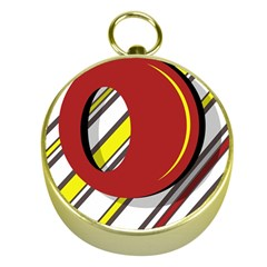Red and yellow design Gold Compasses