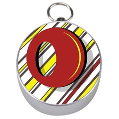 Red and yellow design Silver Compasses