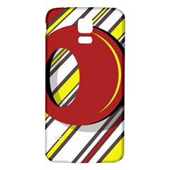 Red and yellow design Samsung Galaxy S5 Back Case (White)