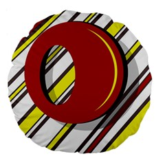Red and yellow design Large 18  Premium Flano Round Cushions