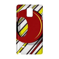 Red and yellow design Samsung Galaxy Note 4 Hardshell Case