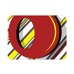 Red and yellow design Double Sided Flano Blanket (Mini)