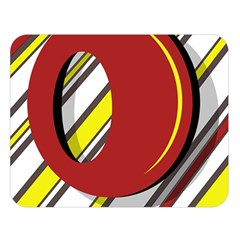 Red and yellow design Double Sided Flano Blanket (Large)