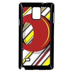 Red and yellow design Samsung Galaxy Note 4 Case (Black)