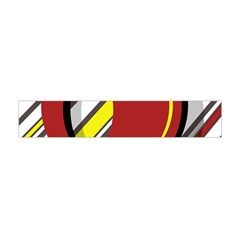 Red And Yellow Design Flano Scarf (mini)