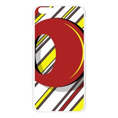 Red and yellow design Apple Seamless iPhone 6 Plus/6S Plus Case (Transparent)