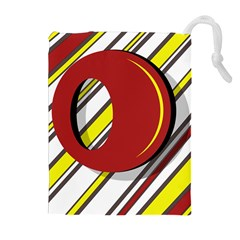 Red And Yellow Design Drawstring Pouches (extra Large)