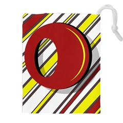 Red and yellow design Drawstring Pouches (XXL)