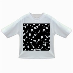 Black and white pattern Infant/Toddler T-Shirts