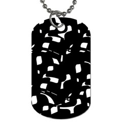 Black and white pattern Dog Tag (One Side)