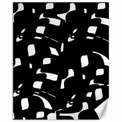 Black and white pattern Canvas 16  x 20