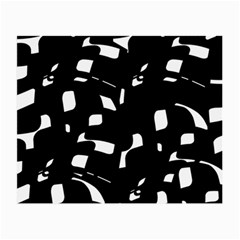 Black and white pattern Small Glasses Cloth (2-Side)