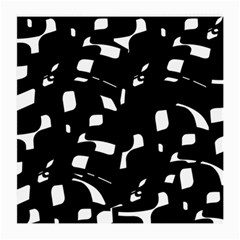 Black and white pattern Medium Glasses Cloth (2-Side)