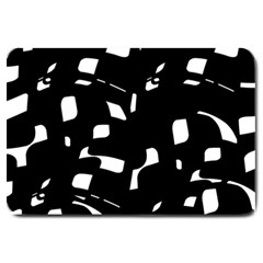 Black and white pattern Large Doormat