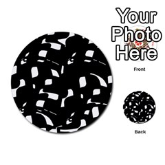 Black and white pattern Multi-purpose Cards (Round)