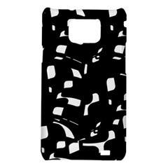 Black and white pattern Samsung Galaxy S2 i9100 Hardshell Case