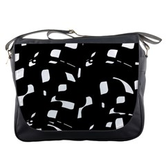 Black and white pattern Messenger Bags